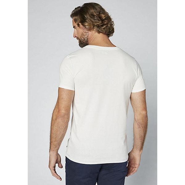 GOTS COLORADO T weiß DENIM Frontprint großem Shirt Herren mit ffr57q