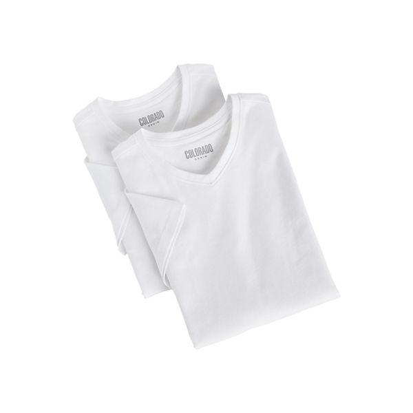 COLORADO DENIM Herren T-Shirt Doppelpack weiß