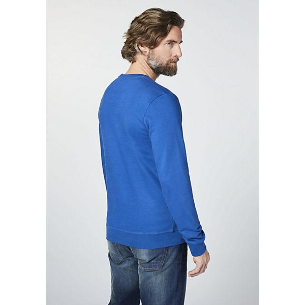 mit blau Sweatshirt COLORADO DENIM Logoprint Herren pwBx4xqz