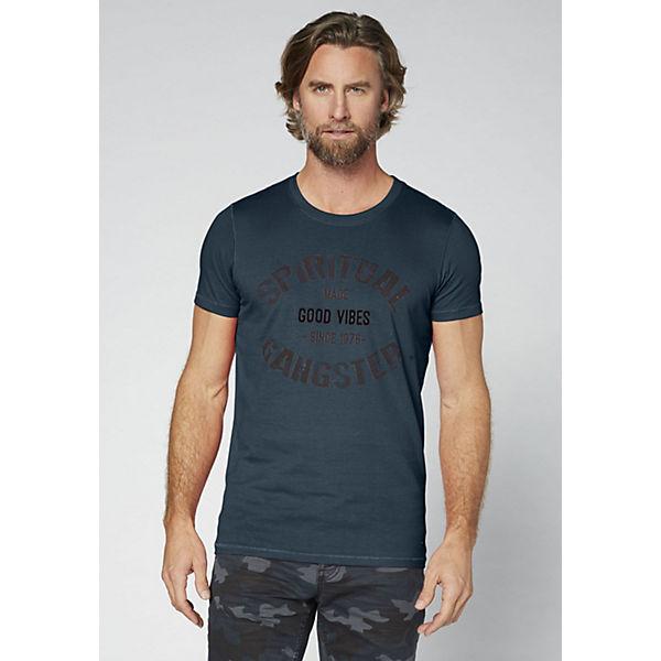 COLORADO DENIM GOTS Herren T-Shirt aus weicher Baumwolle dark blue denim