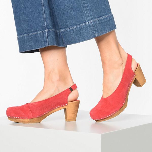 Sanita Sandaletten lenna Square Klassische Sandal Wood Flex Rot cL5q4ARj3