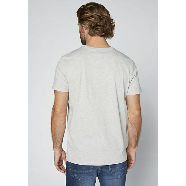 GOTS DENIM T Herren COLORADO Logoprint Shirt mit grau C5q1fw