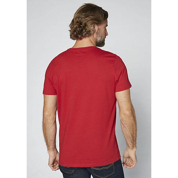COLORADO Logoprint Shirt rot Herren GOTS T mit DENIM rwqrCxO
