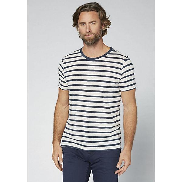 COLORADO DENIM Herren T-Shirt in Streifenoptik dunkelblau