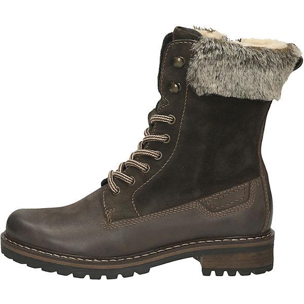 Young Spirit, Stiefel Schnürstiefeletten, dunkelbraun  Gute Qualität beliebte Schuhe