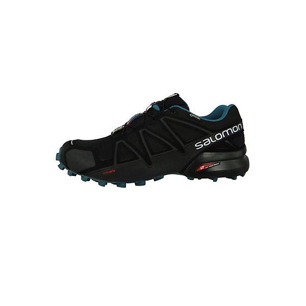 Salomon, Schuhe Speedcross 4 GTX Gore -Tex Nocturn Laufschuhe 404757 Schwarz Black Black Mallard Blue Trekkingschuhe, schwarz