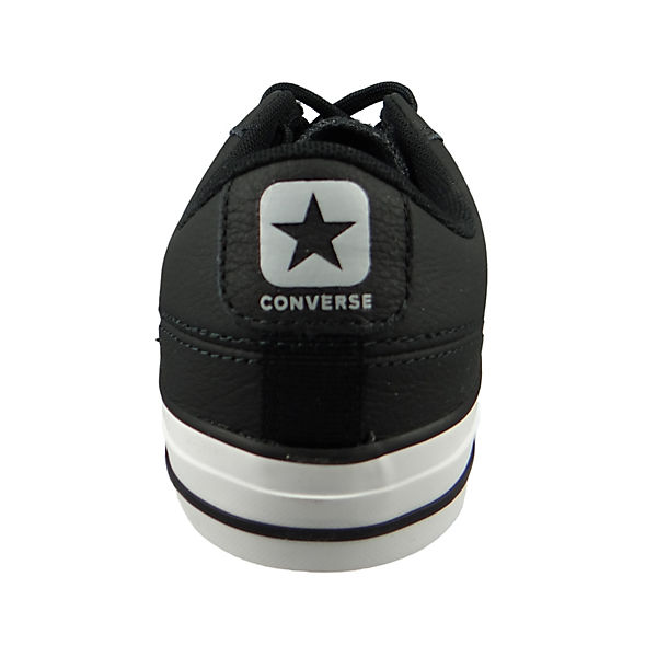 Chucks CONVERSE Player Star Grey Sneakers Black Low schwarz Schwarz OX 161596C Wolf drqraZAnf
