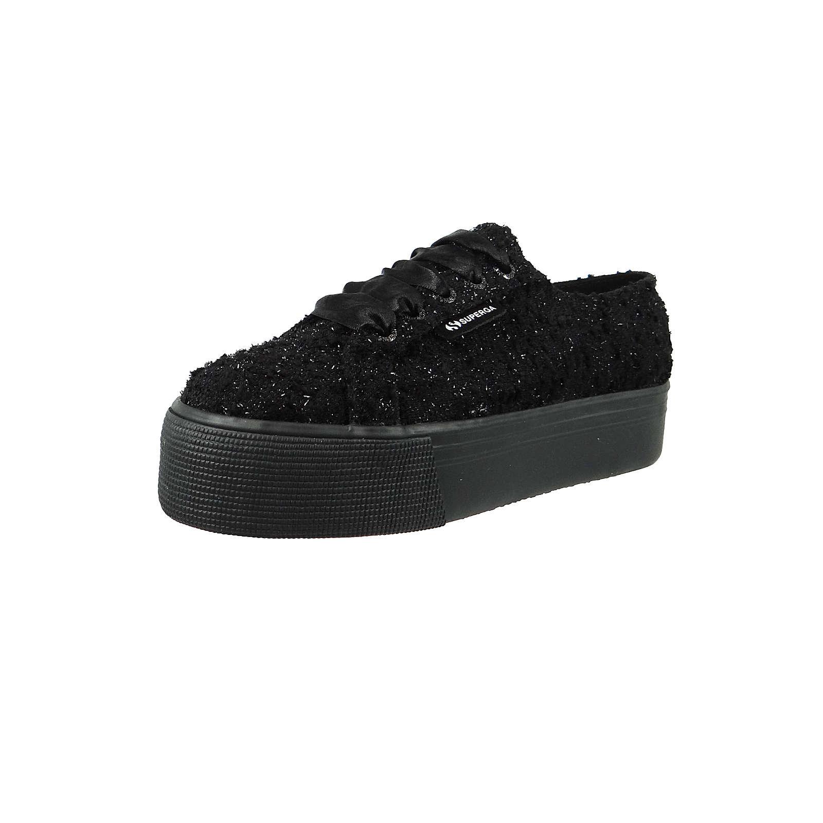 42116d792827f0 Superga® Schuhe Sneaker 2790 COTU Plateau Leder Schwarz Boucle black shiny  S00DFZ0 Sneakers Low schwarz