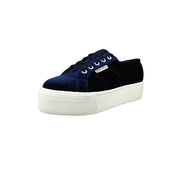 Superga® Samt S00DJH0 Plateau 2790 Schuhe Sneakers blau Blau Low Velvetpolyw Sneaker rCXwrxq7