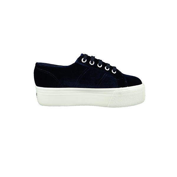 Superga®, Schuhe Samt Sneaker 2790 Velvetpolyw Plateau Samt Schuhe Blau S00DJH0 Sneakers Low, blau  Gute Qualität beliebte Schuhe f09db5