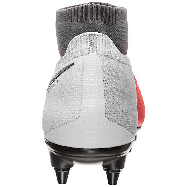 Nike Performance, Nike SG-Pro Phantom Vision Elite DF SG-Pro Nike AC Fußballschuh, grau/rot   c624a2