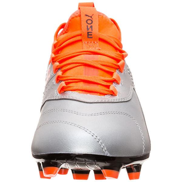 ONE silber Leather 3 PUMA Fußballschuh FG wXTvnqMdF