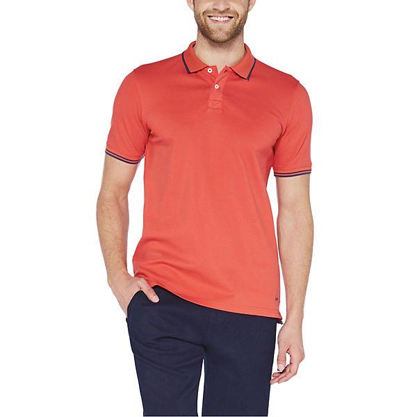 COLORADO DENIM Poloshirt aus elastischem Baumwoll-Piqué rot