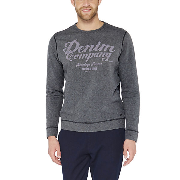 grau mit Sweatshirt Frontprint DENIM COLORADO nwxXqHY5