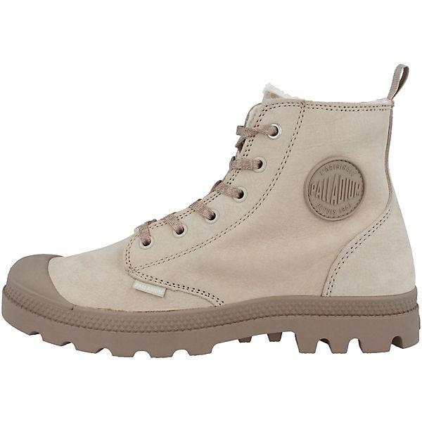 Leather Boots Hi Schnürstiefeletten Zip Palladium beige WL Pampa AHnqa
