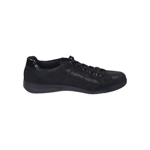 ara, Damen Gute Schnürer Sneakers Low, schwarz  Gute Damen Qualität beliebte Schuhe 119add