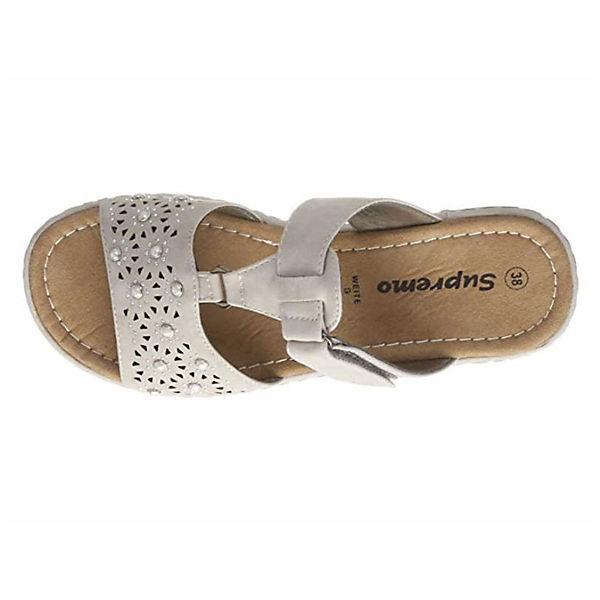 Supremo, Pantoletten, beliebte grau  Gute Qualität beliebte Pantoletten, Schuhe 6b0b97
