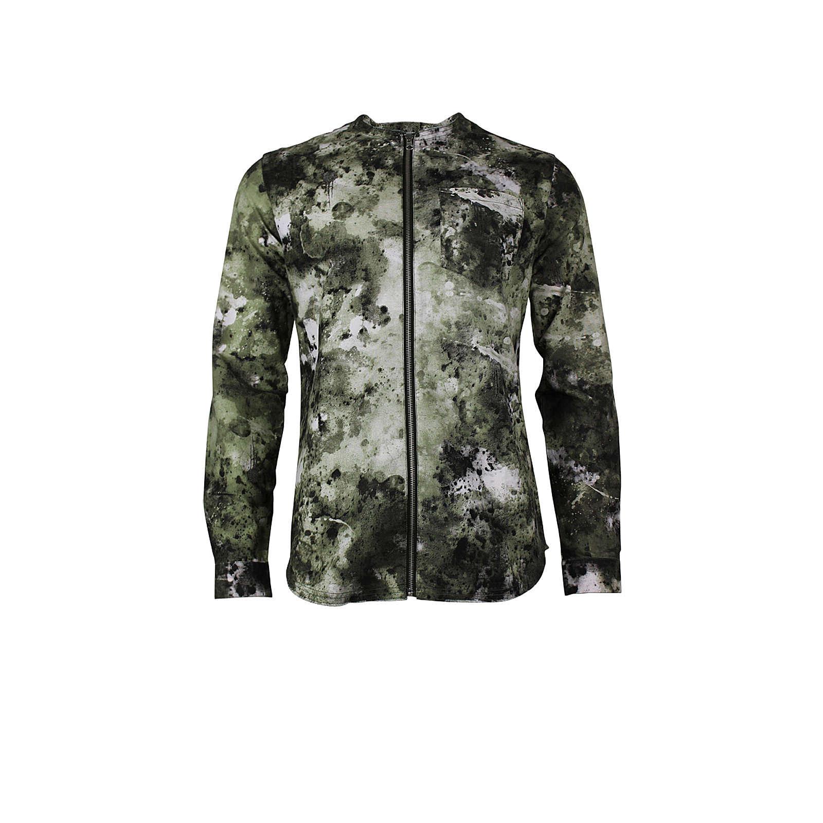 trueprodigy® Langarmhemd Hector im Military-Look khaki Herren Gr. 54