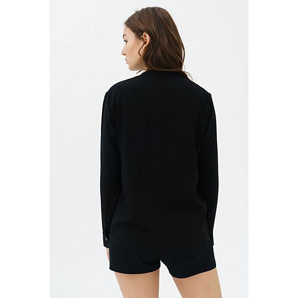 Macy Ausschnitt trueprodigy® Freizeitbluse schwarz V mit TAxawqg