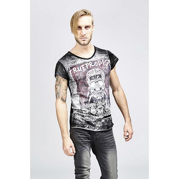 Shirt Totenkopf Muerte trueprodigy® Print La T schwarz mit Ox5wwqHU61
