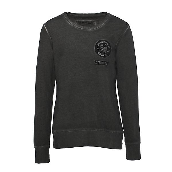 mit Rückendruck anthrazit Tyrion trueprodigy® Sweatshirt sportlichem 8qgRRw