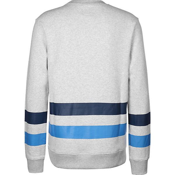 BENCH Sweatshirt Corp Markenprint grau mit qqgrwTz