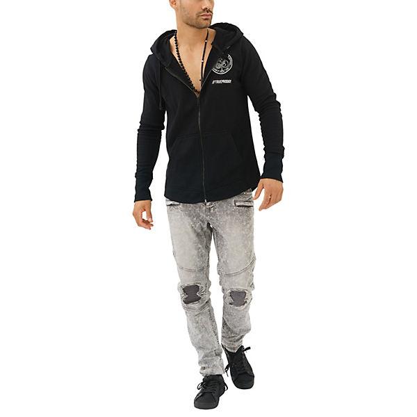 trueprodigy® Rückendruck Ace mit Spades Sweatjacke of schwarz und Kapuze wSpwqZf