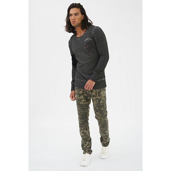 Sweatshirt trueprodigy® Kingdom anthrazit großem mit Rückenprint drvwO7