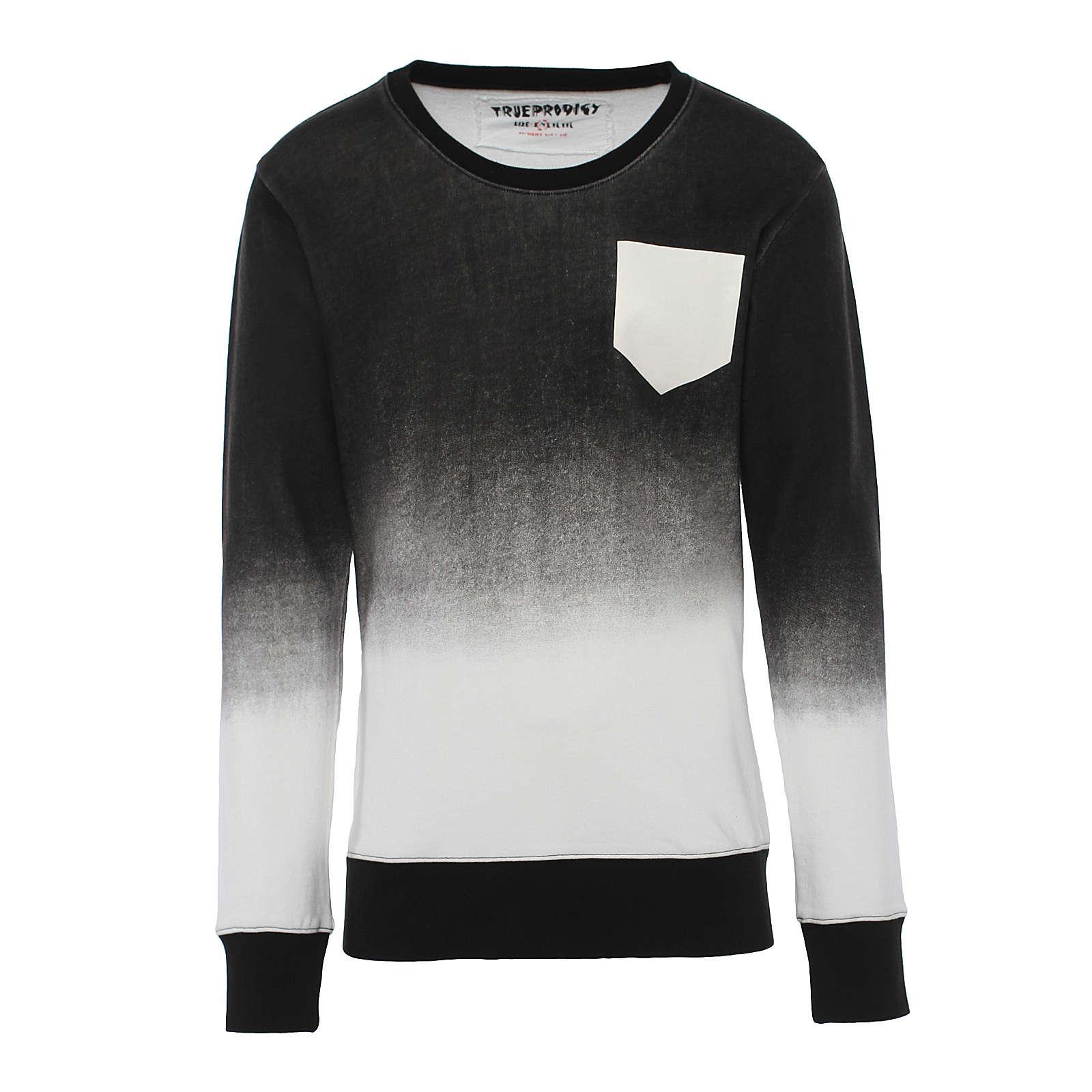 trueprodigy® Sweatshirt Gomorrah in angesagtem Streifendesign schwarz/weiß Herren Gr. 54