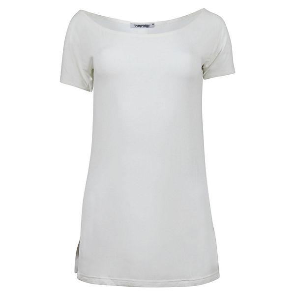 Trueprodigy® Im Weiß Trueprodigy Naira Longshirt Langarmshirts look Casual PTOZXiku