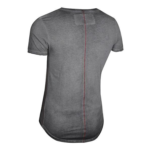 Frontprint mit Party anthrazit trueprodigy® T Monaco großem Shirt Y6cZOqB