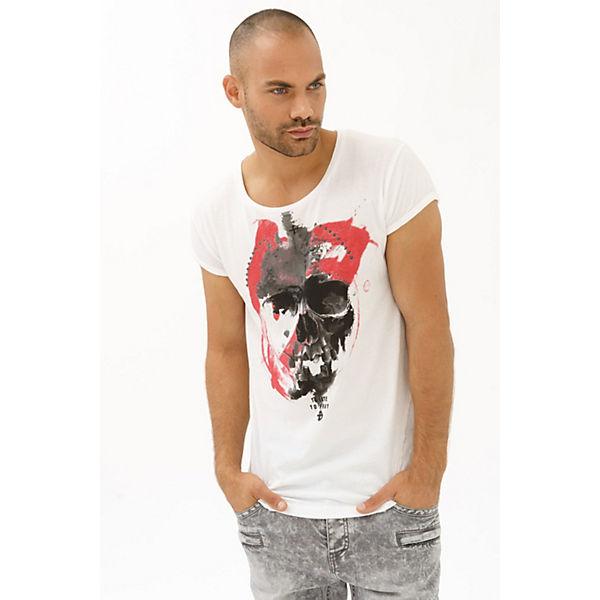 trueprodigy® Shirt T weiß Frontprint mit wwHq7zO