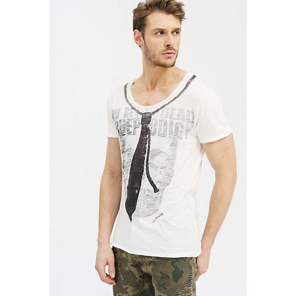 trueprodigy® Tie weiß Krawattenprint Skull mit amp; coolem Shirt T RqFxqc17