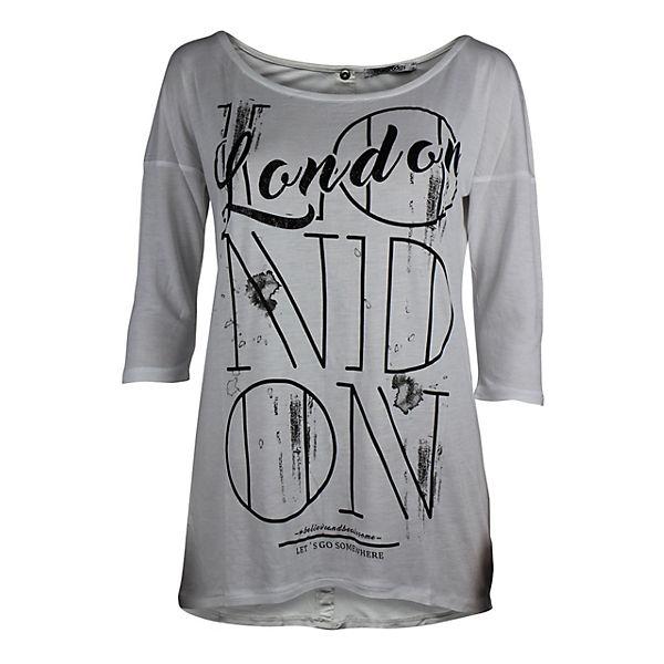 Frontprint Mit Langarmshirts Trueprodigy London Langarmshirt Trueprodigy® Weiß Let's Coolem Go f7gy6bY