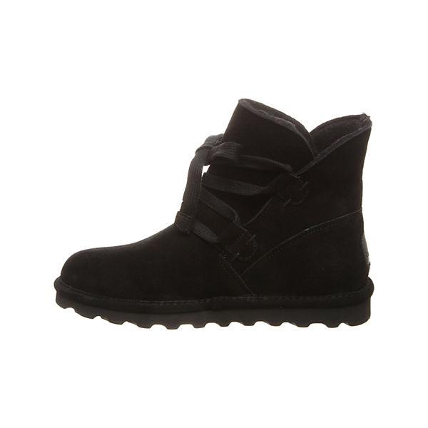 Bearpaw, Lammfell  Stiefelette ZORA Schnürstiefeletten, schwarz  Lammfell Gute Qualität beliebte Schuhe 5d8df4