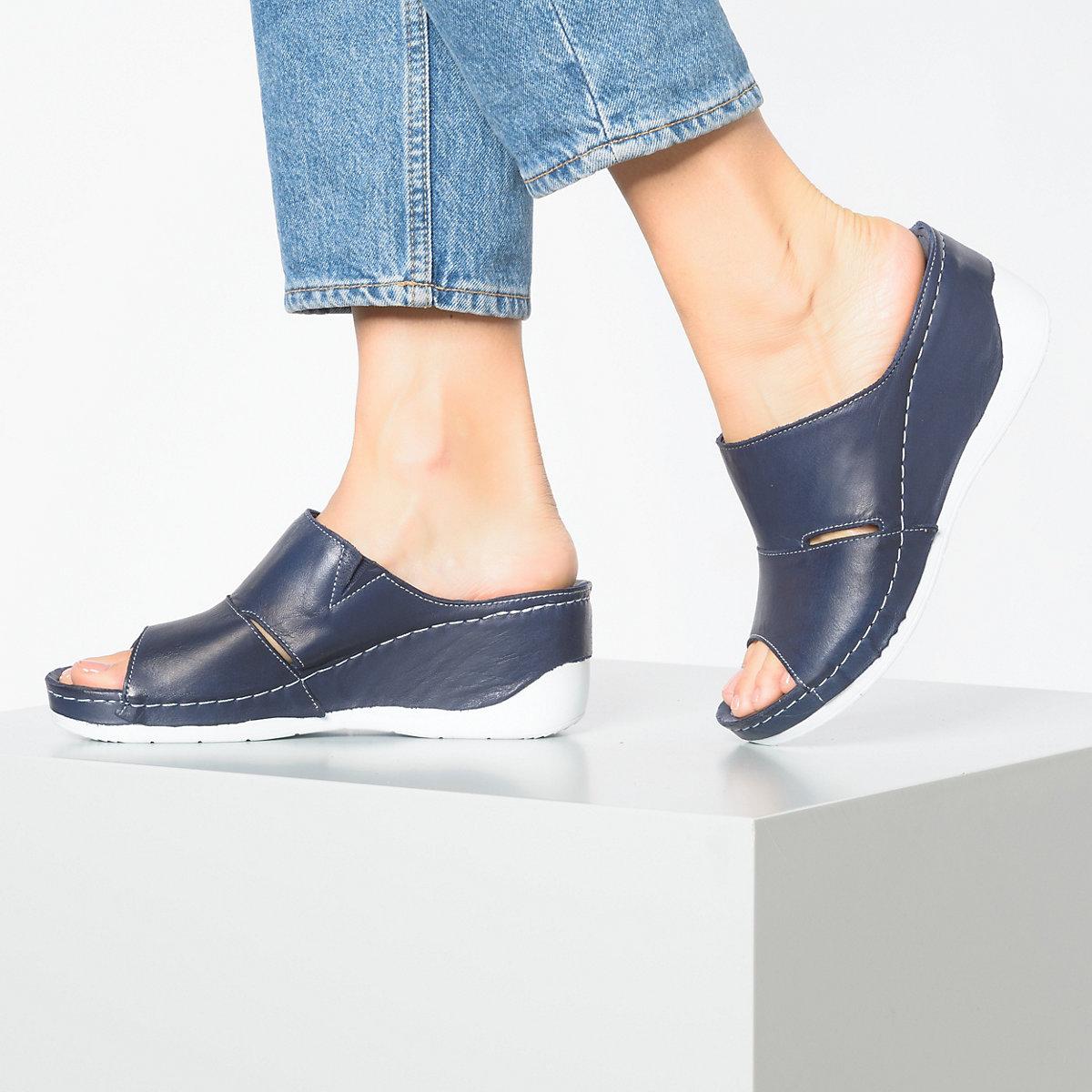 Andrea Conti Komfort-Pantoletten dunkelblau
