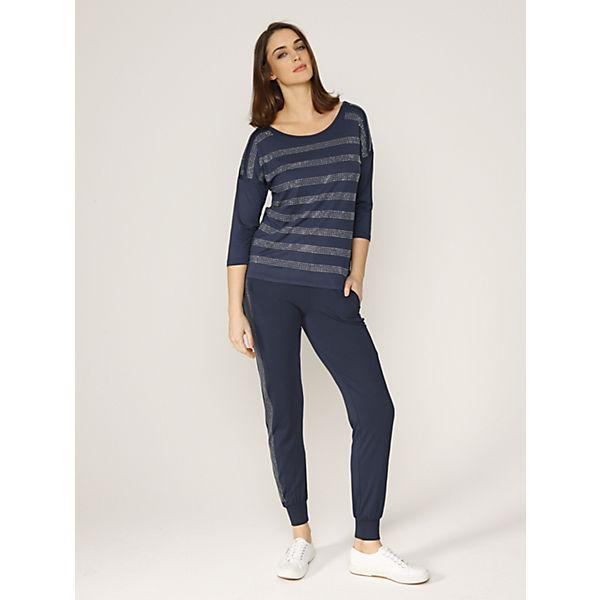 Laura Kent Comfort Jerseyhose Fit dunkelblau ww0A7q4
