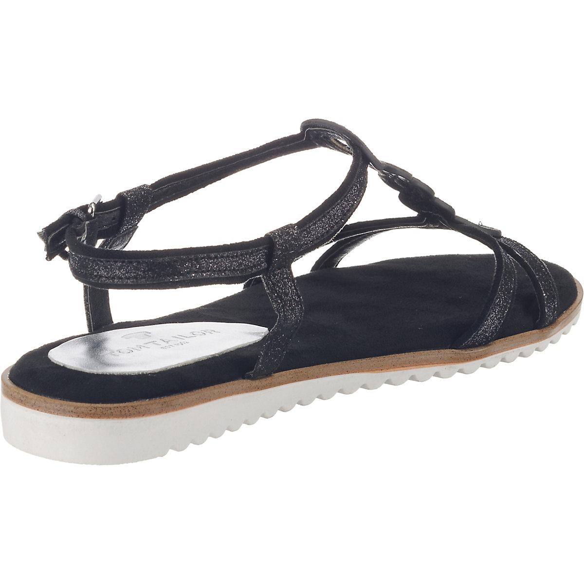 TOM TAILOR T-Steg-Sandalen schwarz