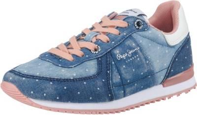 Pepe Jeans, Sneakers Low SYDNEY TOPOS für Mädchen, blue denim