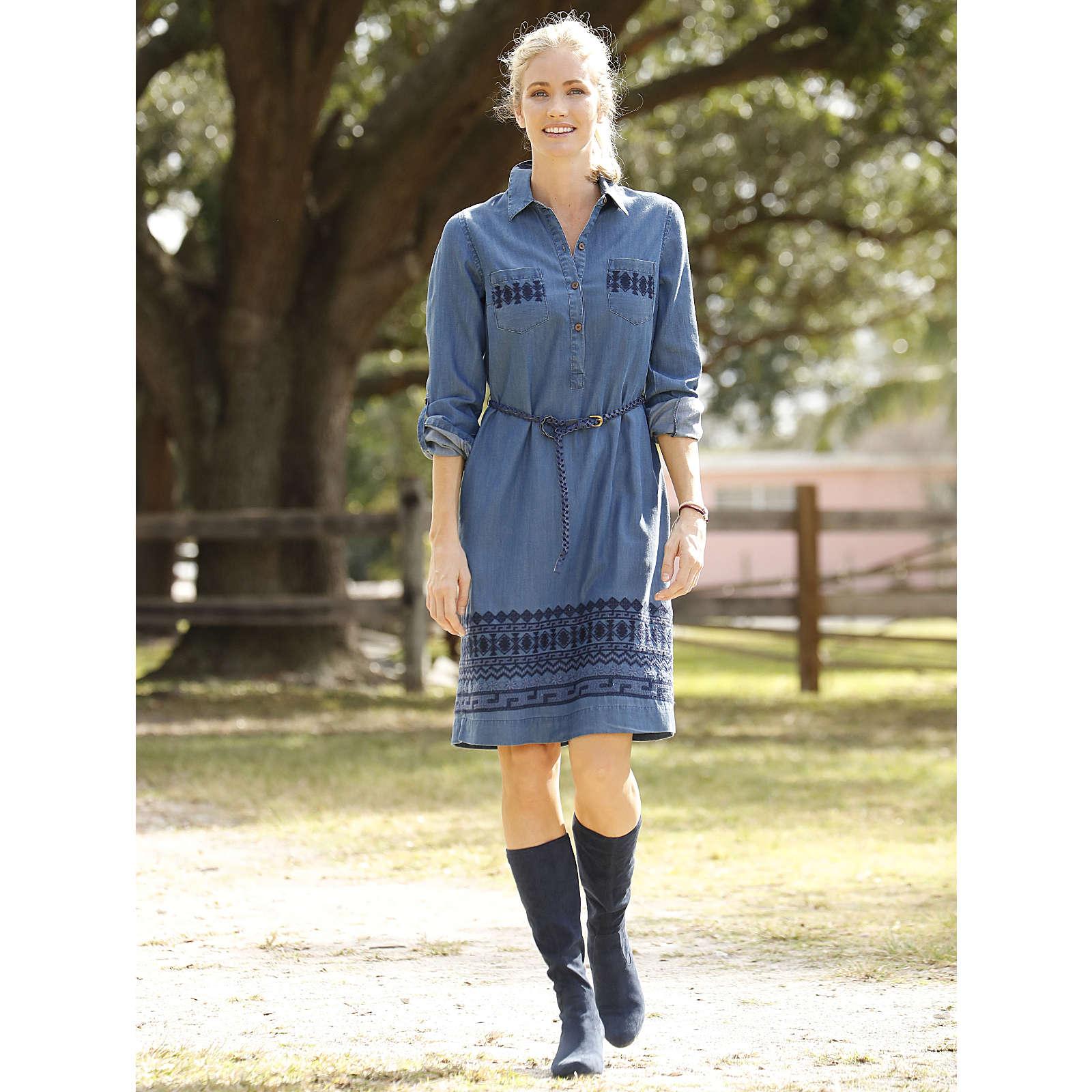 Laura Kent Jeanskleid blau Damen Gr. 46