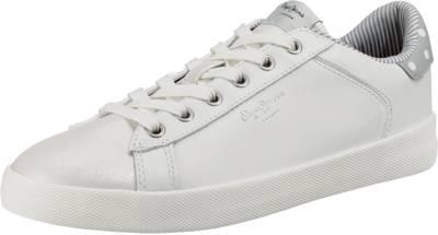 Pepe Jeans, Sneakers Low, weiß kombi
