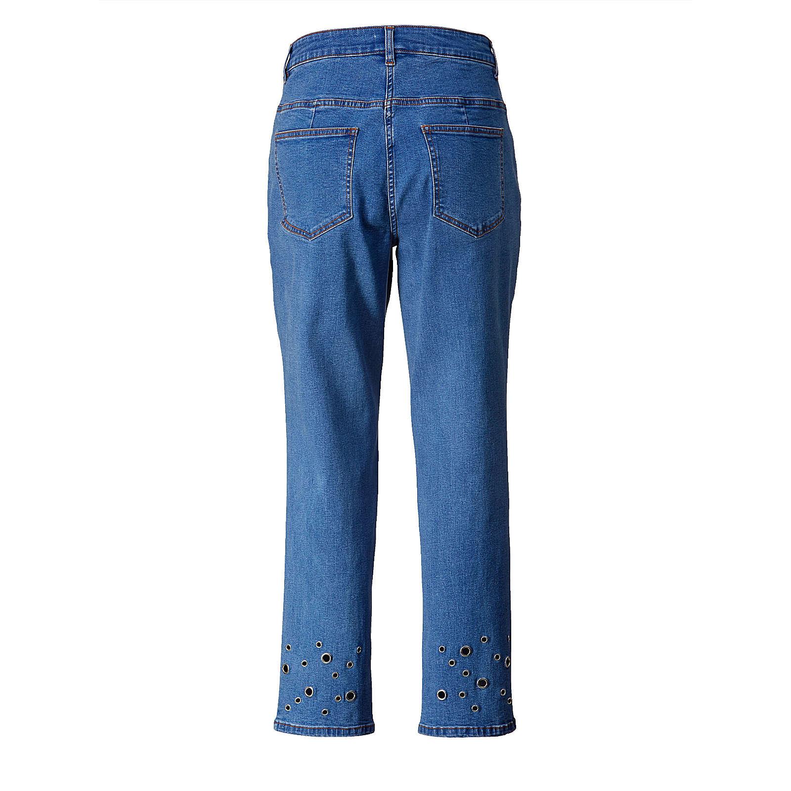 Angel of Style Slim Fit Jeans knöchellang blau ...