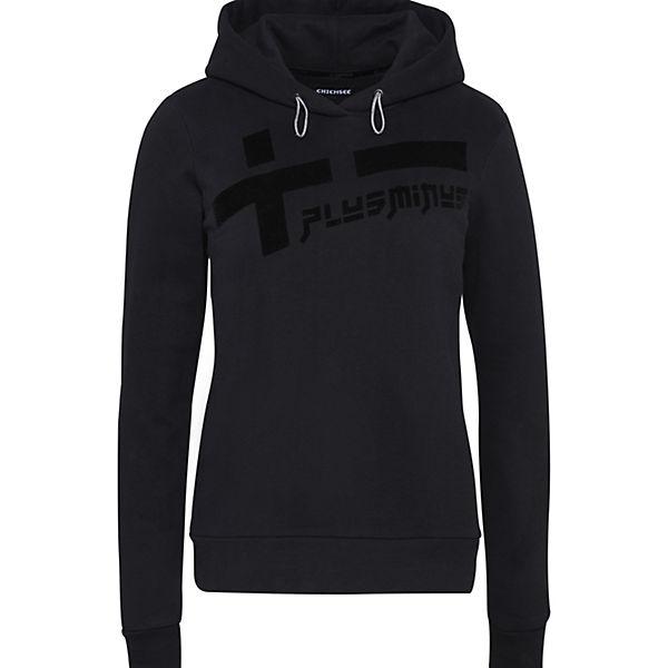 Gots Mit Chiemsee Frontprint Schwarz Kapuzen Sweatshirt Plusminus H9DIW2EY