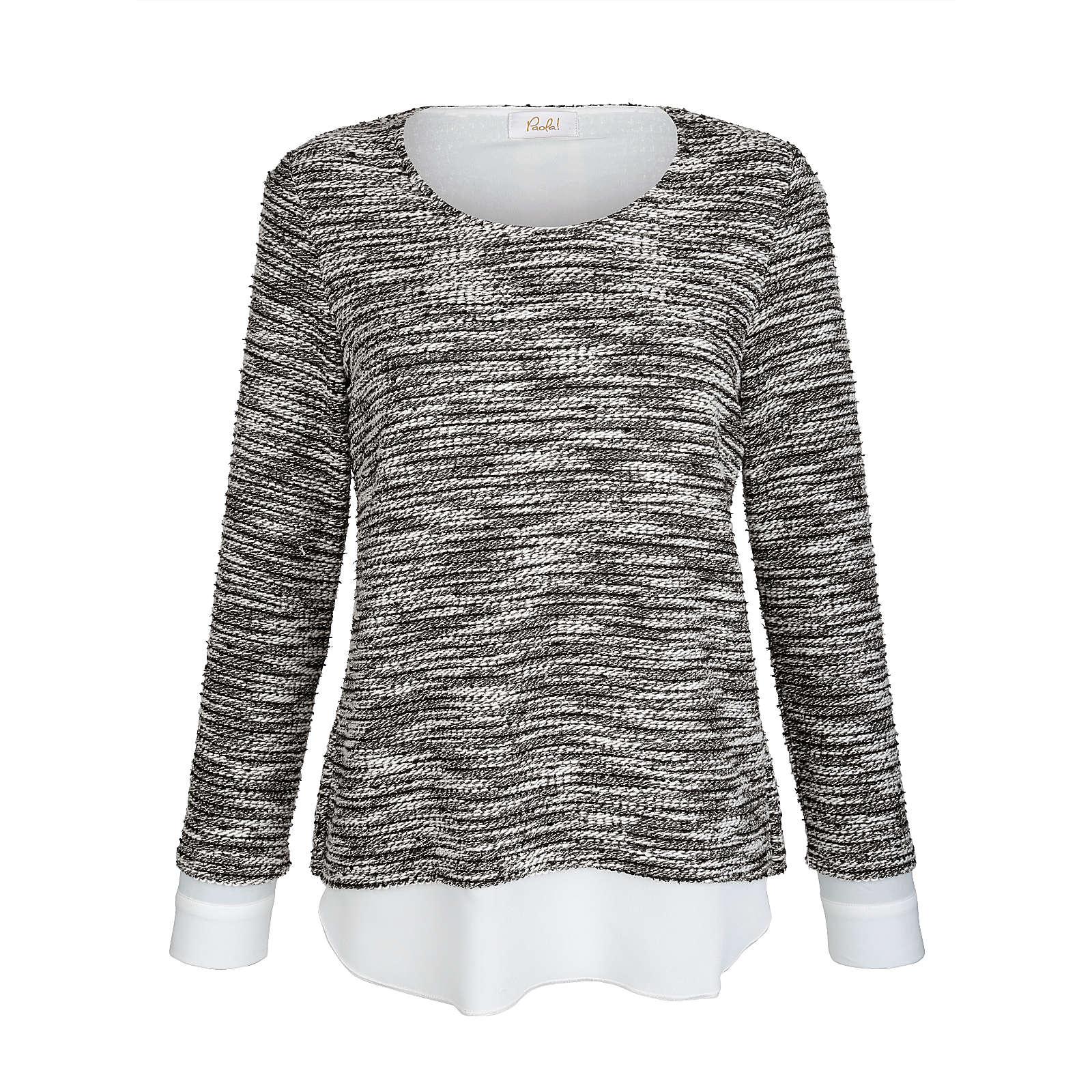 Paola 2-in-1 Pullover weiß Damen Gr. 42