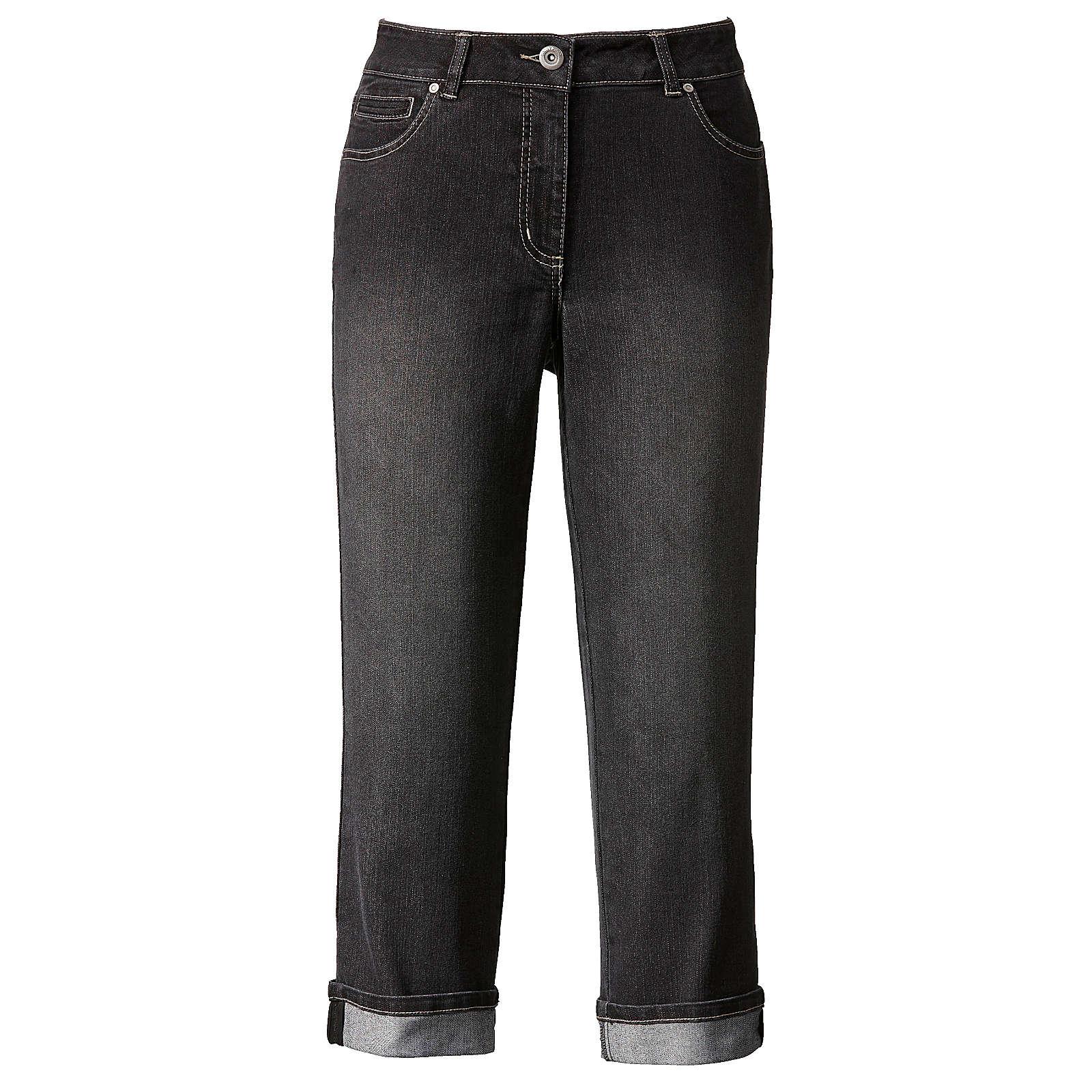 Dollywood Straight Cut Jeans Amy schwarz Damen Gr. 54