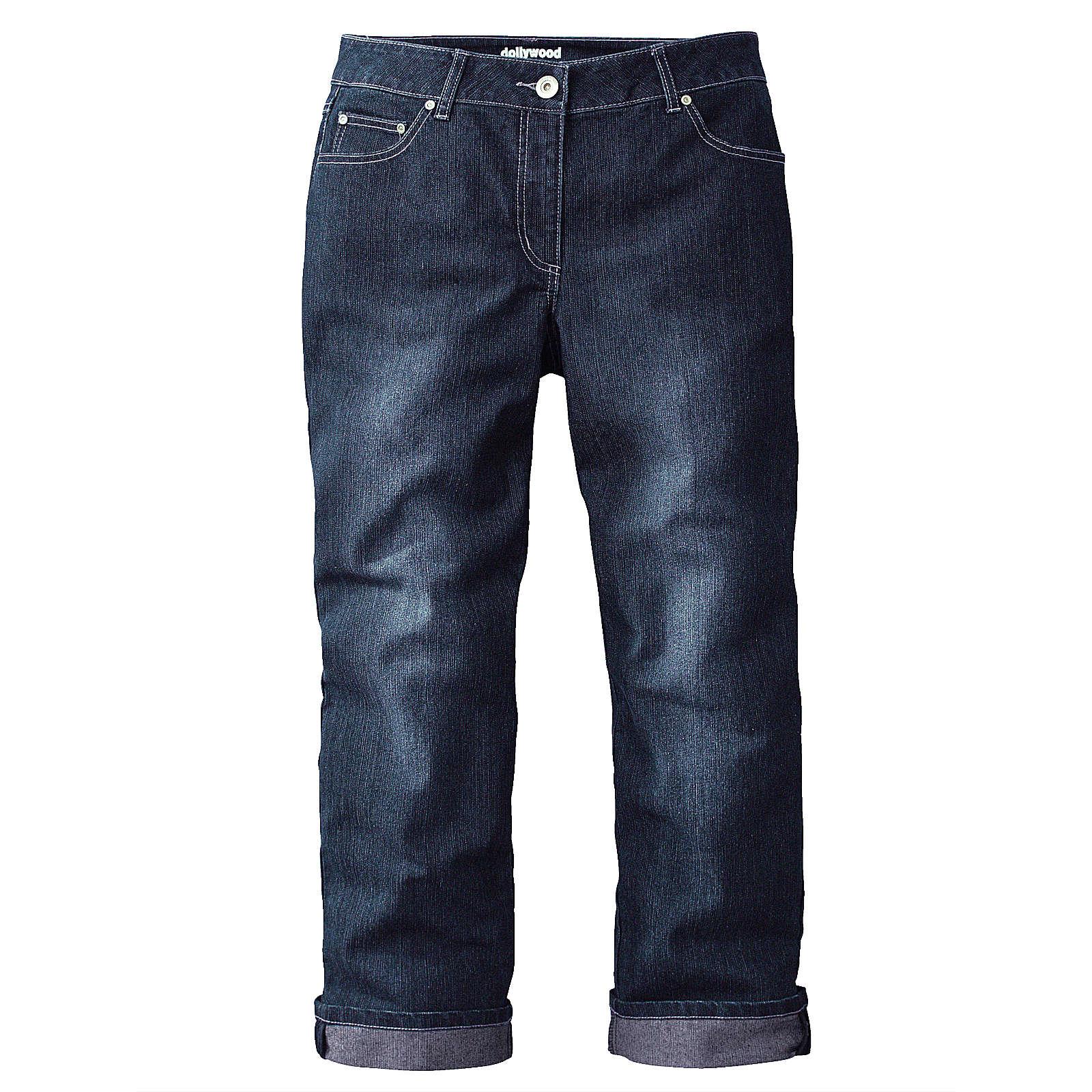 Dollywood Straight Cut Jeans Amy blau Damen Gr. 48