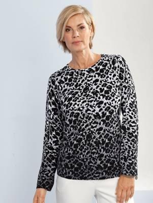 Paola Sweatshirt Mit Animalmuster Schwarz