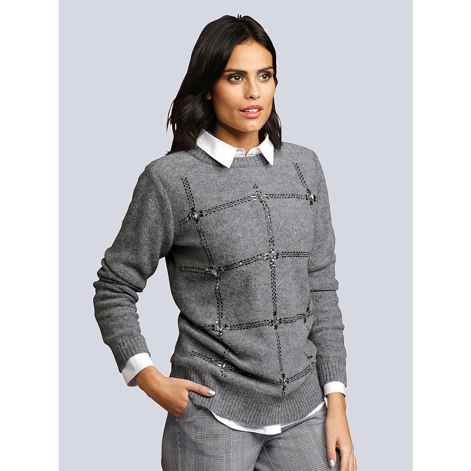 Alba Moda Pullover grau Damen Gr. 40