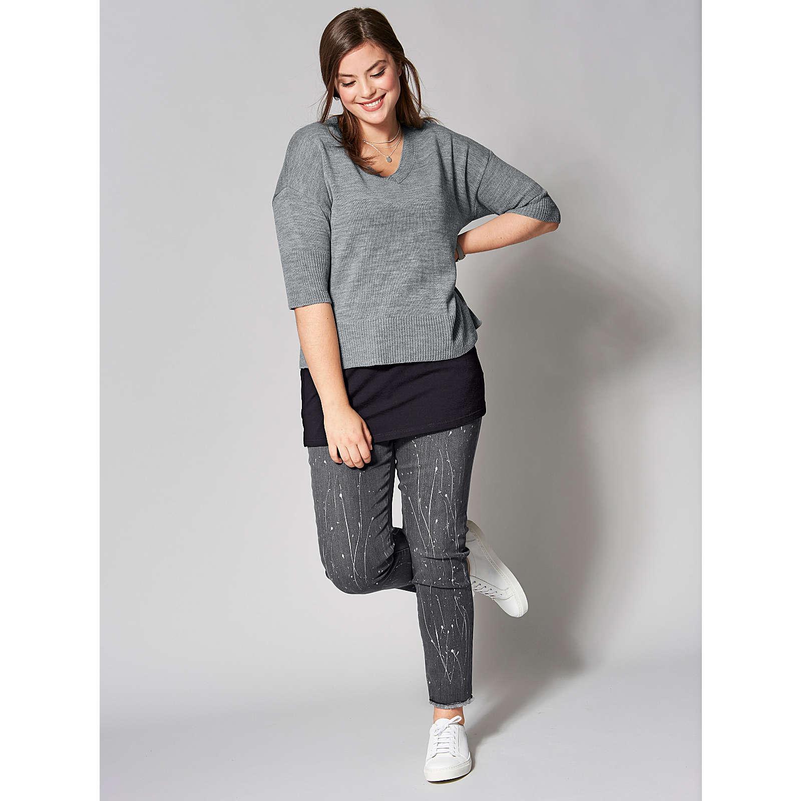 Angel of Style Slim Fit Jeans knöchellang grau ...