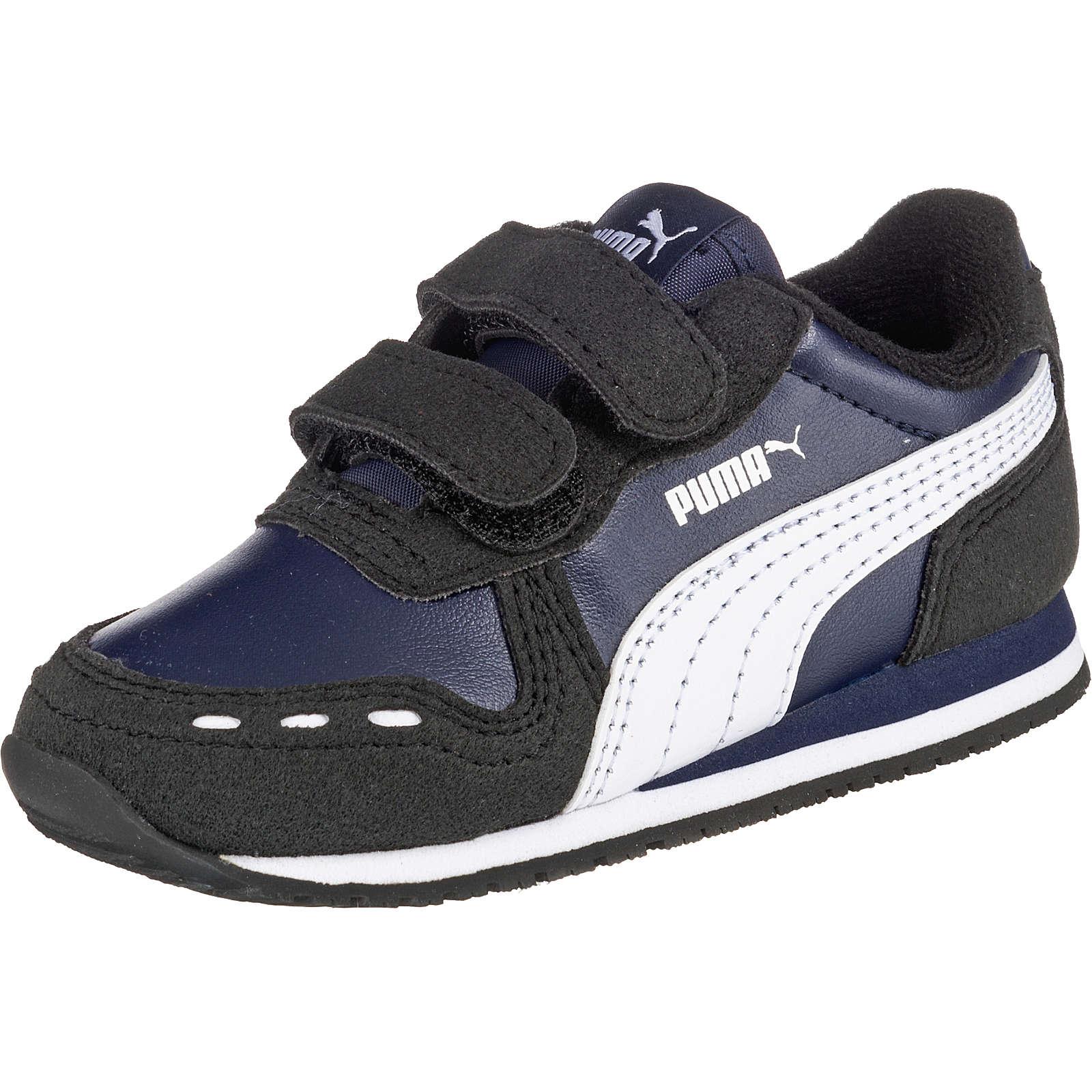 PUMA Baby Sneakers Low CABANA RACER SL V für Jungen dunkelblau Junge Gr. 25